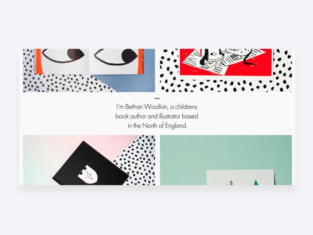 Creative writing portfolio examples: Bethan Woollvin