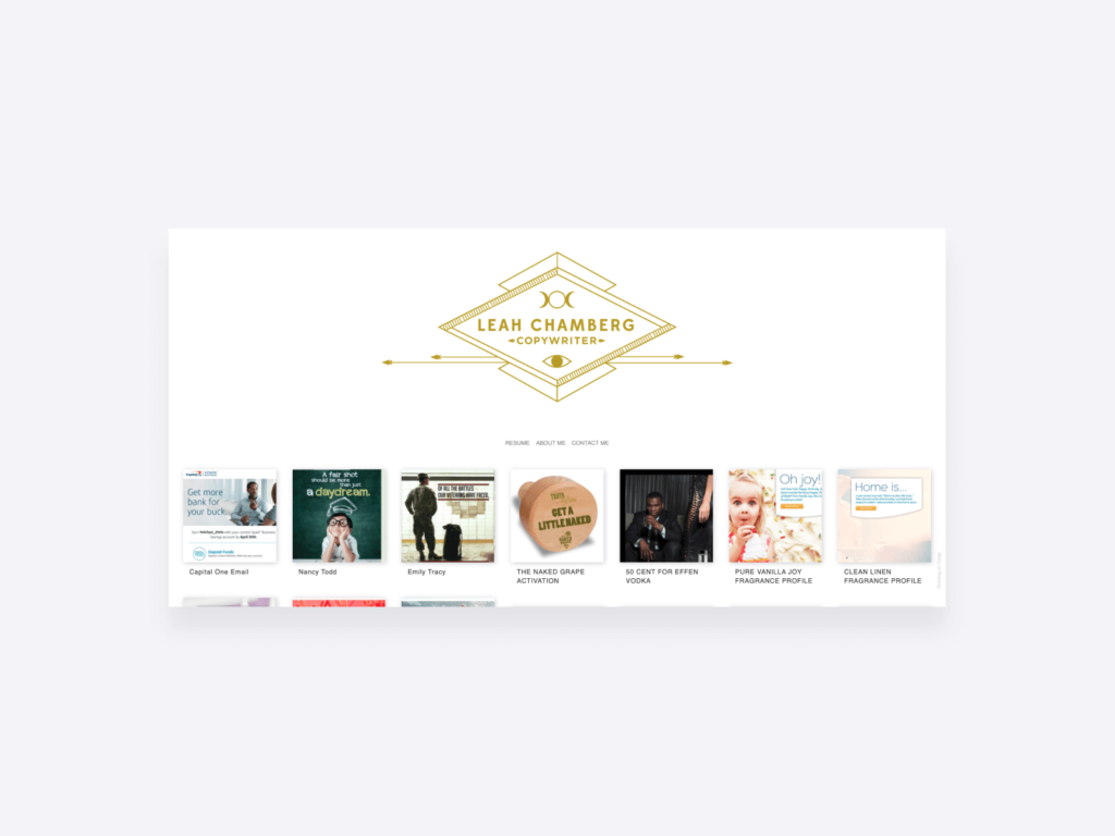 leah chamberg's online writing portfolio