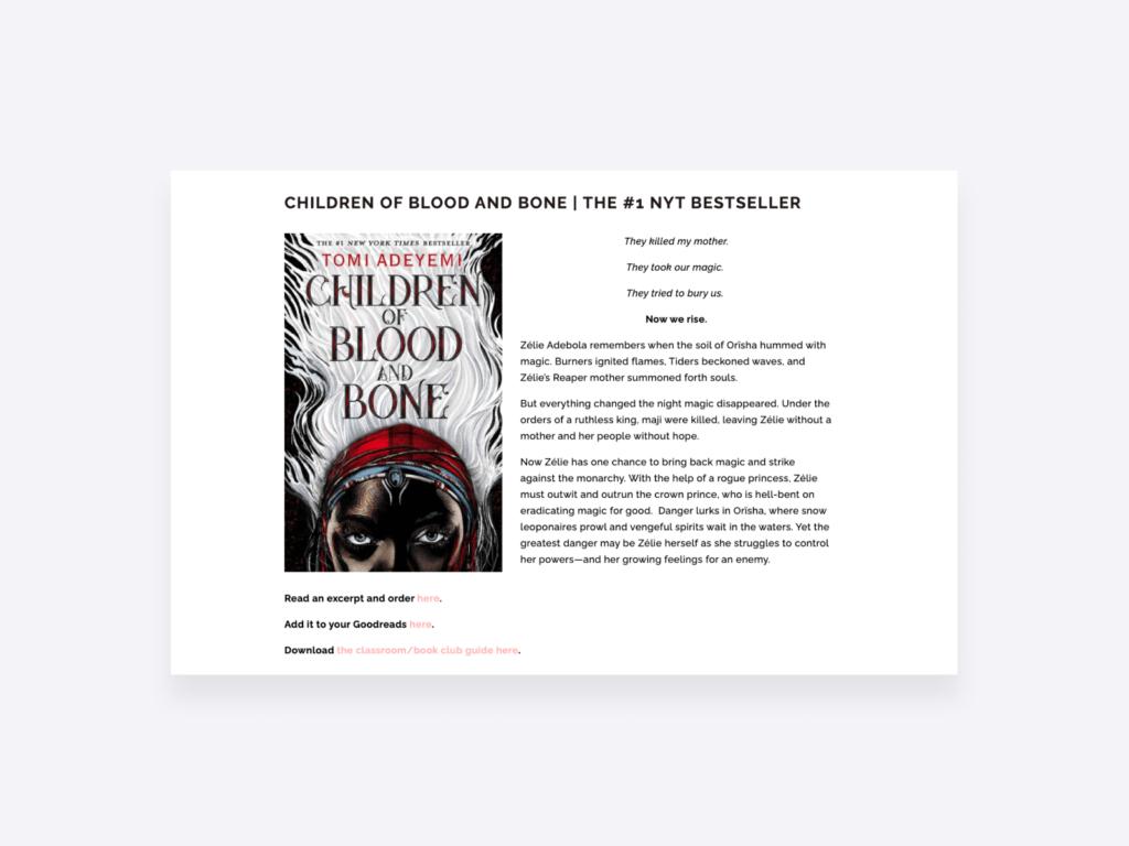 writing portfolio examples – tomi ayedemi bestselling author website