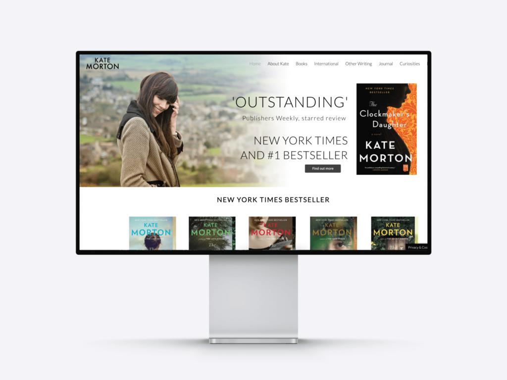 best author website examples: kate morton's website