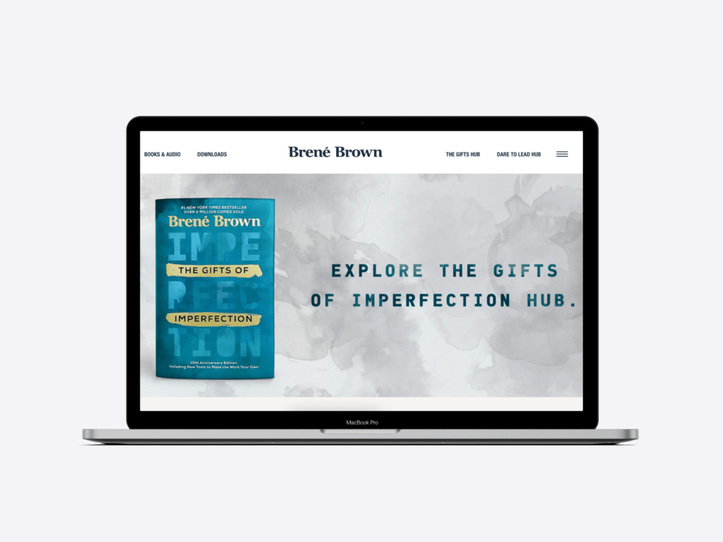 great author websites: brené brown's author website
