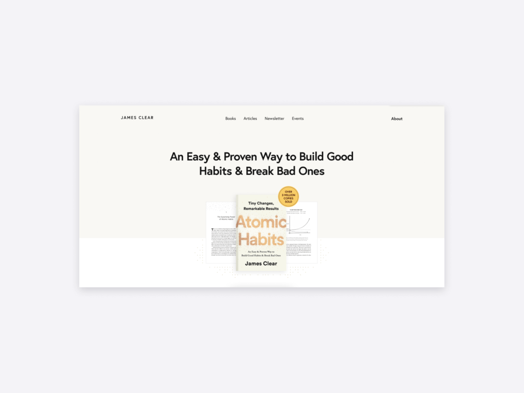 author websites example: james clear atomic habits author
