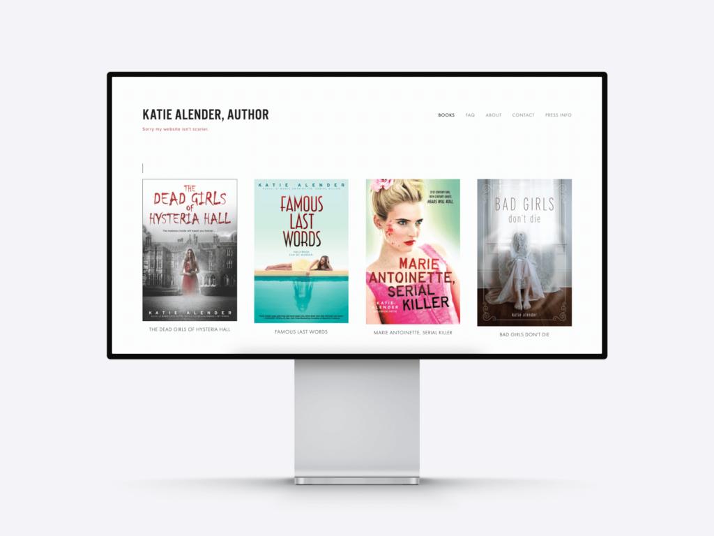 the best author websites: katie alender's site
