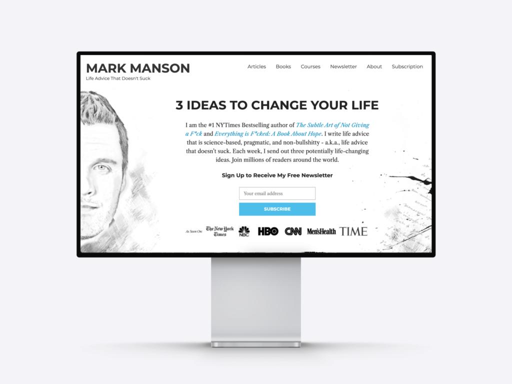 mark manson's writer website