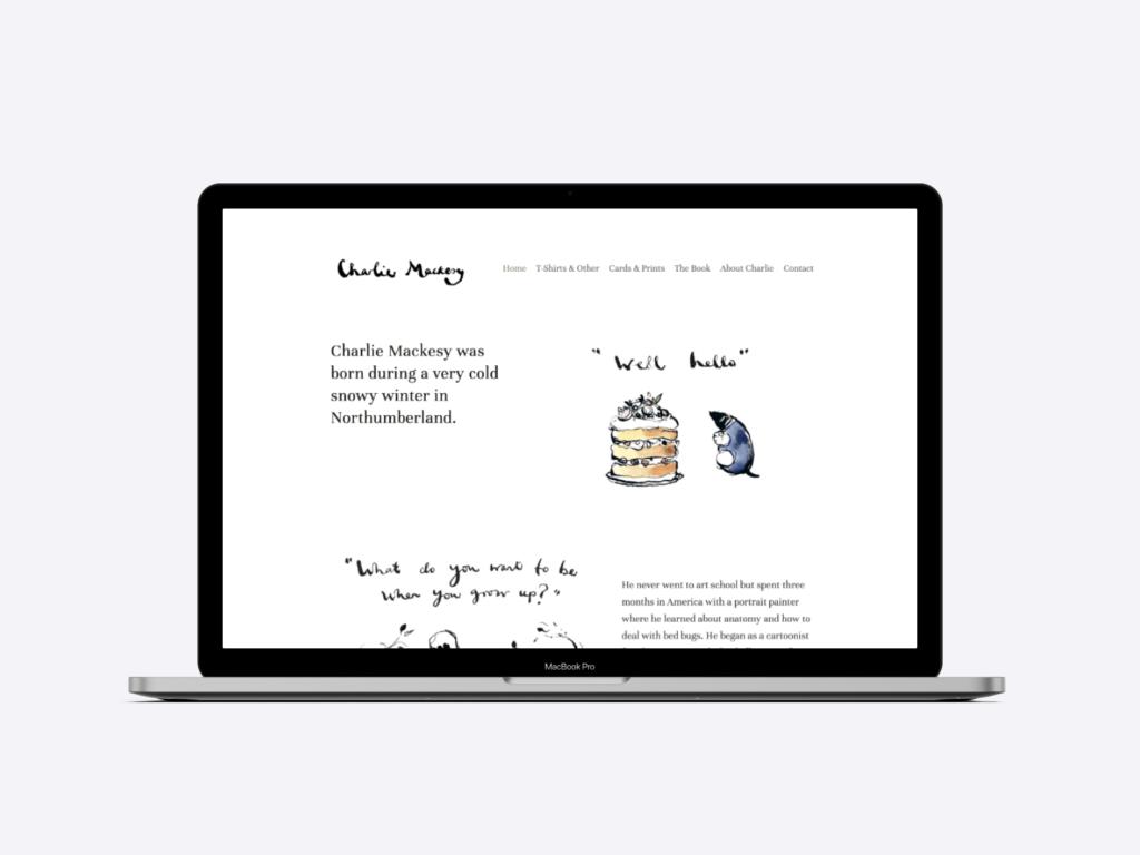 The author website of Charlie Mackesy