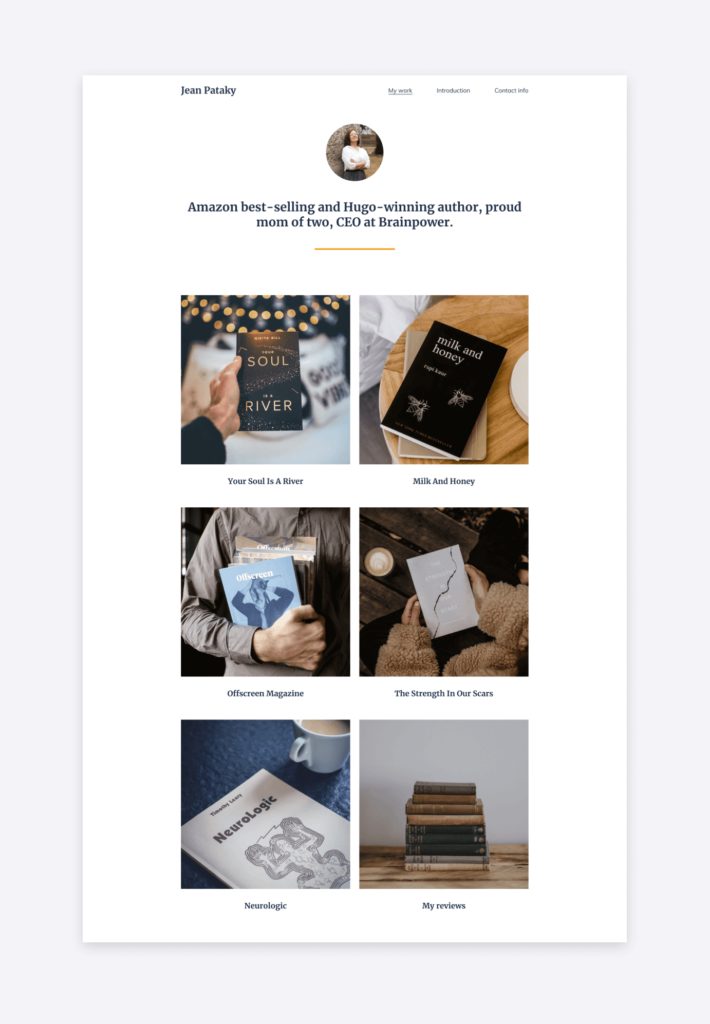 Letterpress Copyfolio writer website template