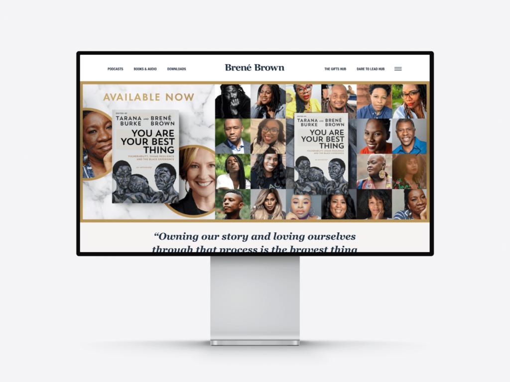 Best author website examples: bestselling writer Brené Brown