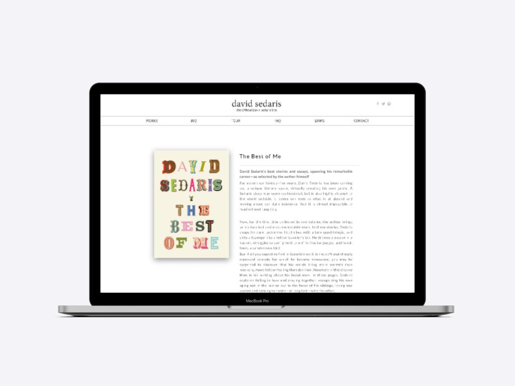The website of David Sedaris author.