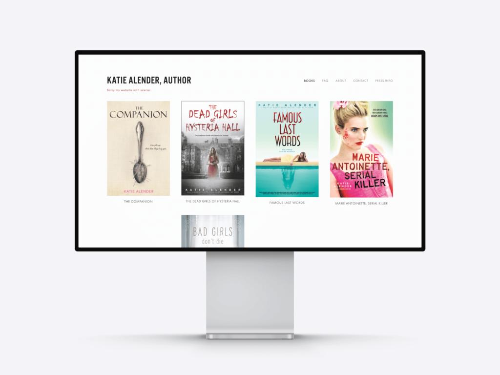 The author website of Katie Alender.