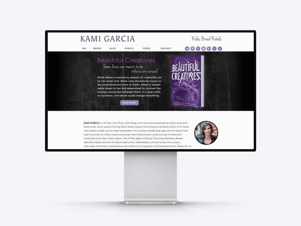The website of bestselling author Kami Garcia