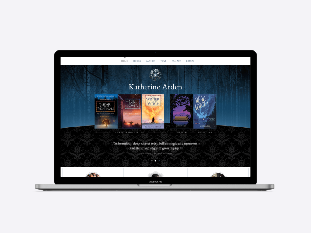 Best-selling author Katherine Arden's website.