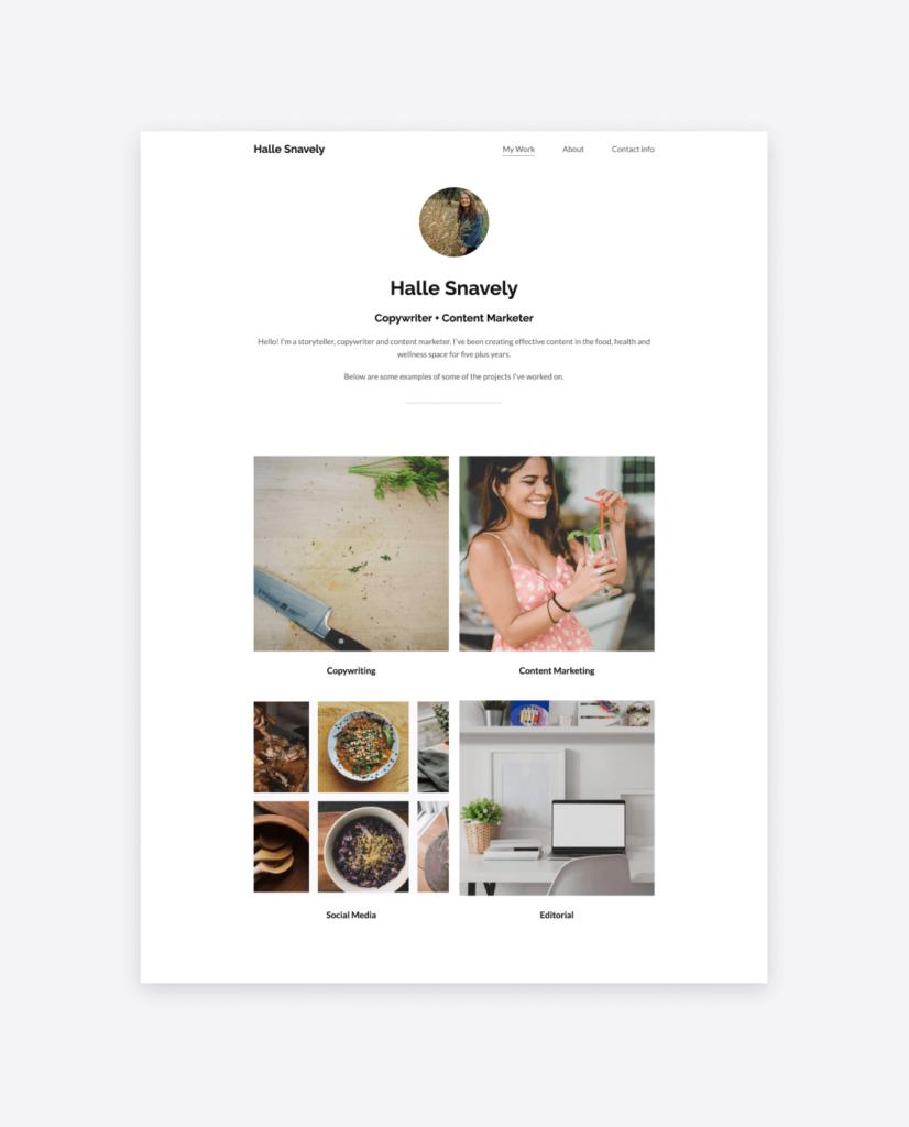 The portfolio of Halle Snavely copywriter & content marketer.